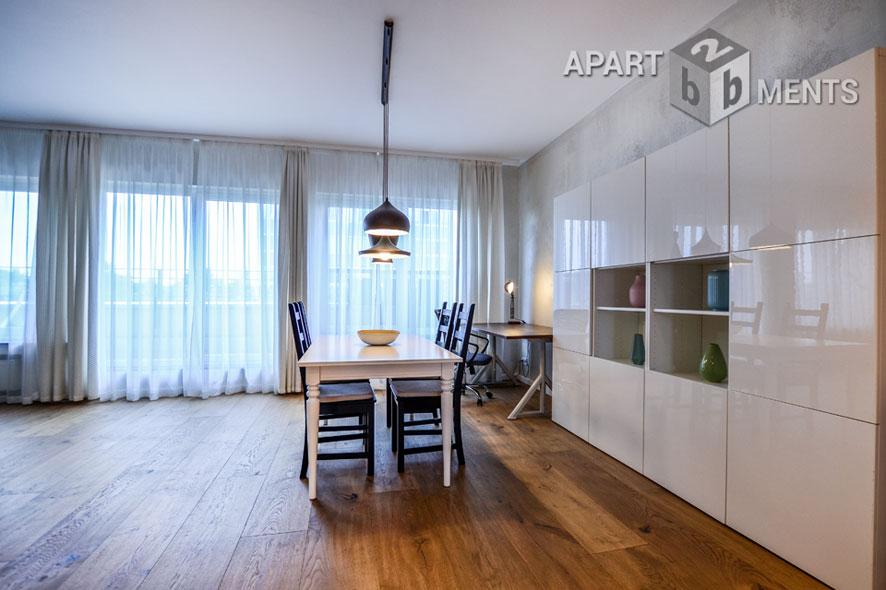 Möblierte Penthouse-Wohnung mit großer Terrasse in Köln-Altstadt-Nord