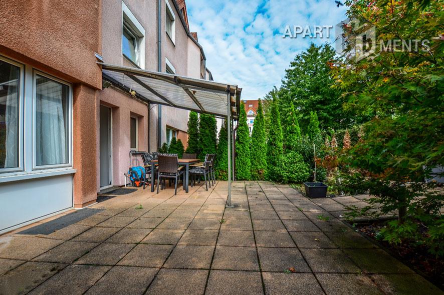Möblierte Wohnung mit Garten je vorne und hinten in Köln-Altstadt-Süd