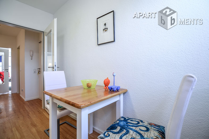 Furnished single apartment with balcony in Cologne-Nippes