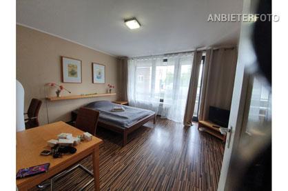 Modern möblierte Wohnung beinah direkt am Medienhafen in Düsseldorf-Unterbilk