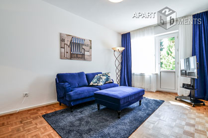 Modern furnished apartment with view to a park garden in Düsseldorf-Wersten