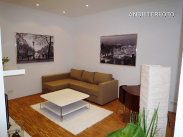 Modern furnished apartment with old building flair in Dusseldorf-Unterbilk directly at the media harbour