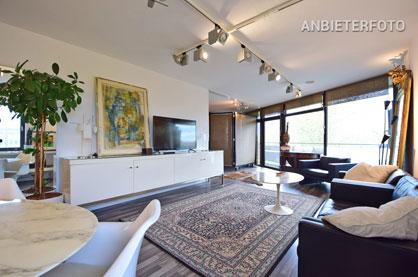 Modern möbliertes Apartment mit Balkon und Tiefgaragenstellplatz in Düsseldorf-Golzheim