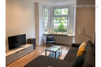 Hochwertig möblierte Wohnung in Düsseldorf-Friedrichstadt