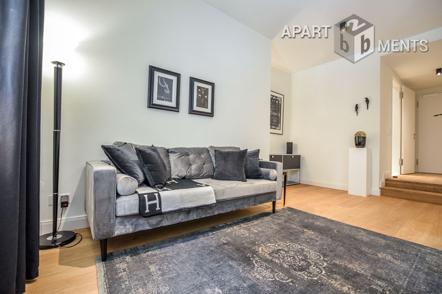 Furnished luxury apartment in the beautiful Andreas Quarter in Düsseldorf-Altstadt
