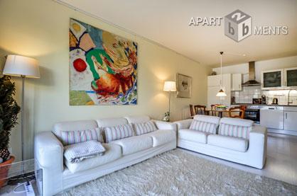 Modern möblierte und zentral gelegene Wohnung der Top-Kategorie in Düsseldorf-Golzheim