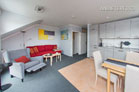 Modern furnished and fully air-conditioned maisonette with balcony in Dormagen
