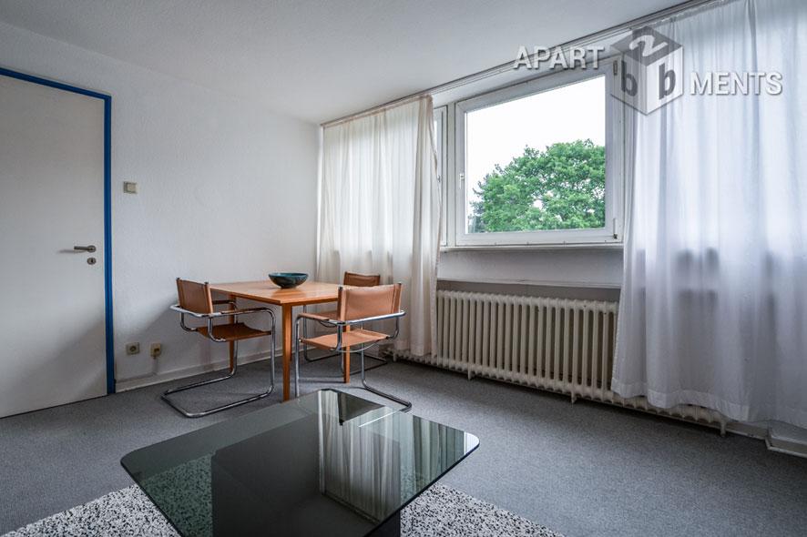 möbliertes Appartement in Toplage von Rüngsdorf mit Blick über die schönen Gärten der Nachbarschaft und das Siebengebirge