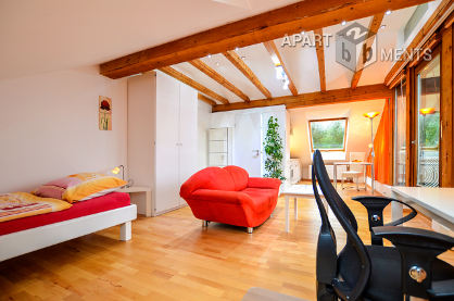Neat furnished attic studio in good residential area in Bonn-Holzlar