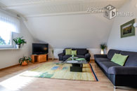 Furnished and spacious apartment with view on the Siebengebirge in Bonn-Hoholz