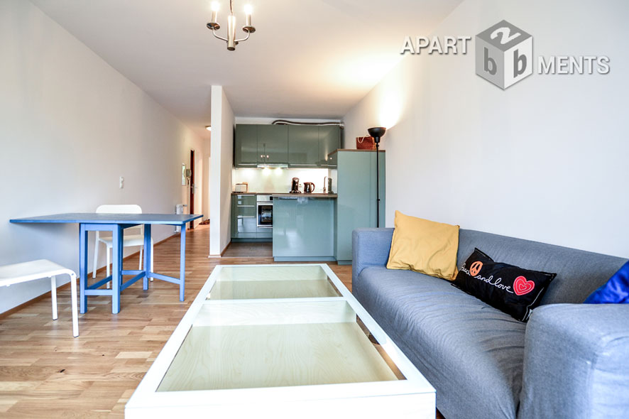modern möblierte Balkonwohnung in Bonn-Bad Godesberg-Plittersdorf
