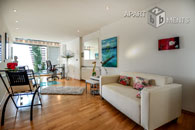 Modernly furnished spacious apartment in Bonn-Castell directly at the Rhine