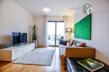 Möbliertes Top-Apartment zentral und in direkter Rheinlage in Bonn-Gronau