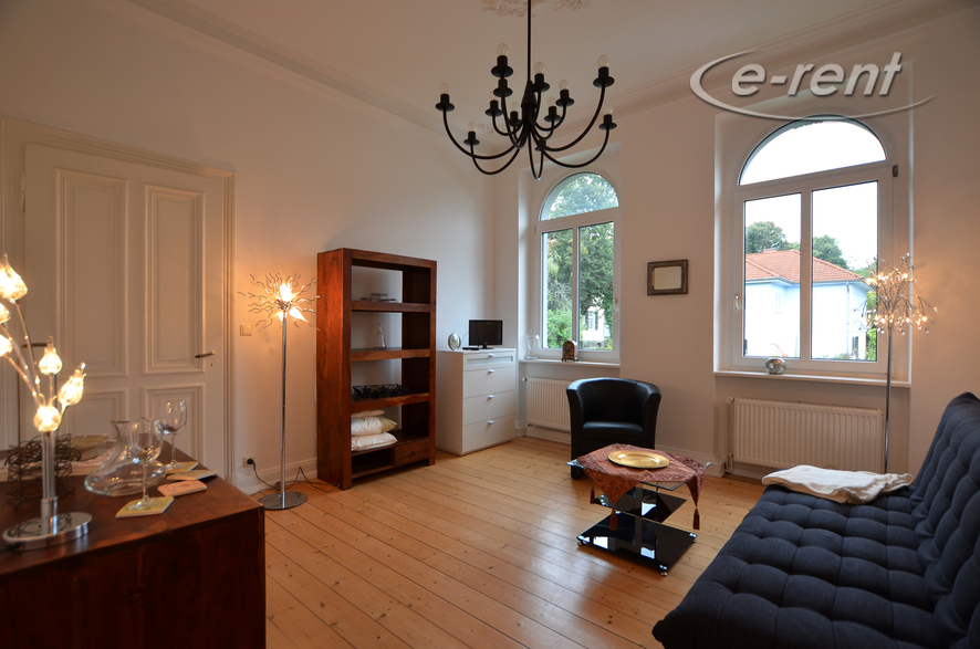reorganized old-style appartment in an Art Nouveau villa of 1840 with view to the Siebengebirge
