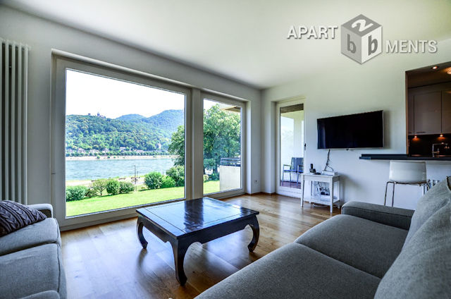 high-quality furnished apartment with best panoramic view in Bonn-Mehlem