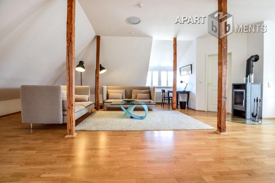 Modern möbliertes Loft-Apartment der Top-Kategorie in Bonn-Villenviertel