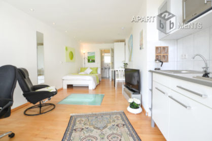 Furnished single apartment in a quiet location directly at the Rhine in Bonn-Castell