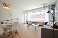 Helle und möblierte Balkonwohnung für Paar oder Familie in Bonn-Plittersdorf
