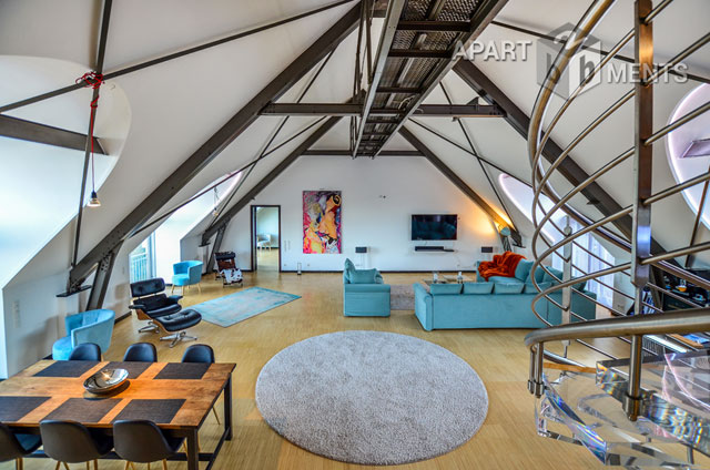 furnished penthouse apartment with tower on the Rosenburg castle in Bonn-Kessenich