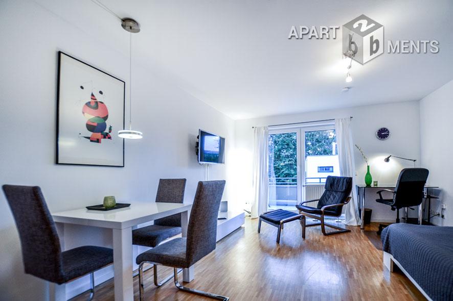 Modern möblierte Singlewohnung direkt am Rhein in Bonn-Beuel-Mitte